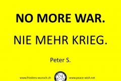 Nie mehr Krieg_No more War_Friedens-Wunsch-ch_Peace-Wish-net